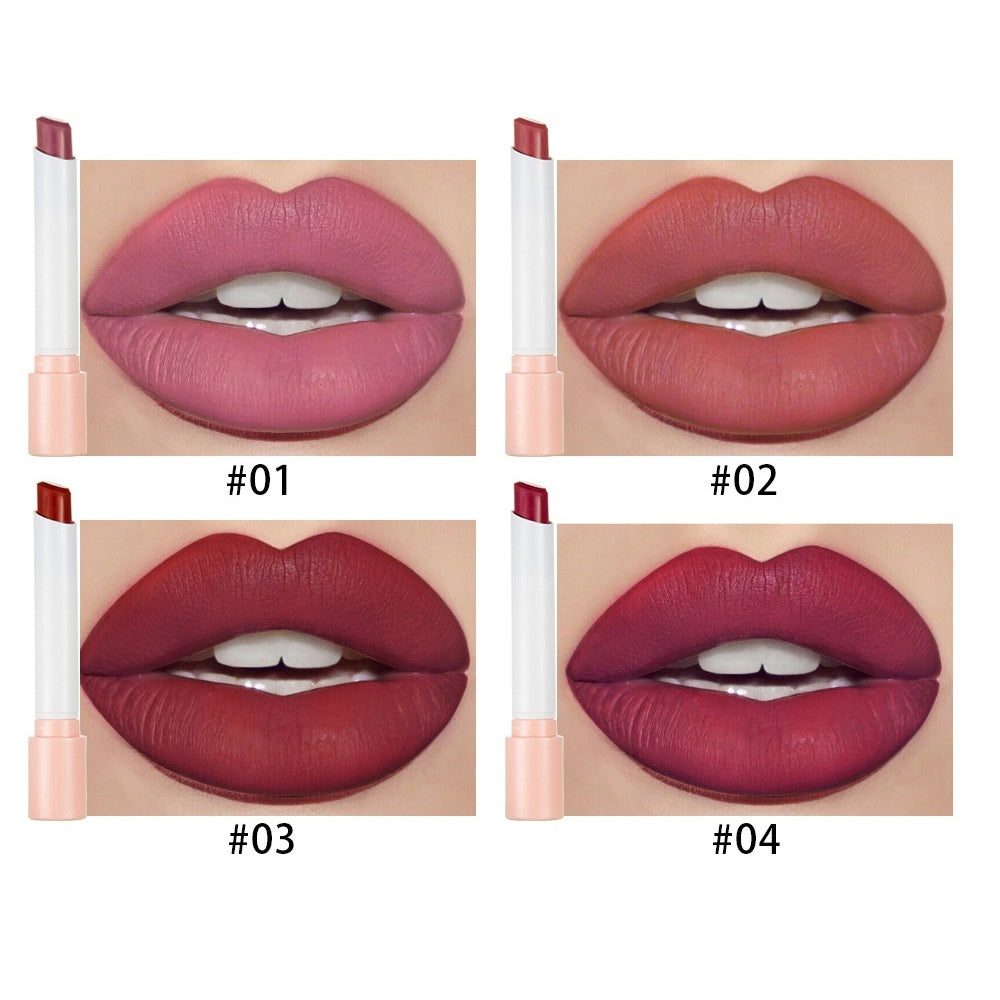 4Pcs/Set Cigarette style Lipstick Set Matte Long Lasting Waterproof Matt Lip Stick Tube Sexy Red Lips Makeup