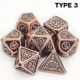 (12 Colors) Colorful Edge Metal Dice Set Role Playing Dragons Dice Bar Party Table Game Hobbies Gift 7Pcs/Set