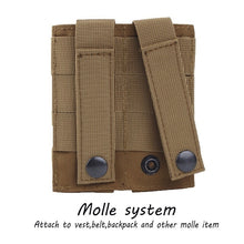 Load image into Gallery viewer, Double / Triple Molle Tactical Magazine Pouch Military 1000D Holster Open Top Airsoft Paintball Cartridge Pouch Hunting Bag