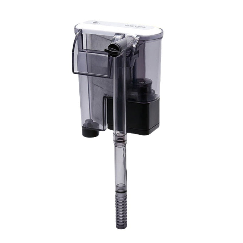 Hang On Aquarium Filter Power Waterfall Suspension Oxygen Pump Submersible Hanging Activated Carbon Biochemical Wall Mounted Fish Tank Filtration