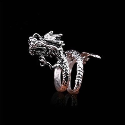 Dragon Ring Male Open Personality Single Tide Male Index Finger Ring Tide Student Retro Wind Domineering