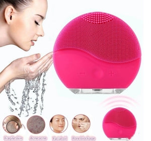 Facial Cleanser Usb Charging Silicone Facemeter Pore Cleaner Facial Brush Facial Massager and Sonic Cleansing for All Skin Types