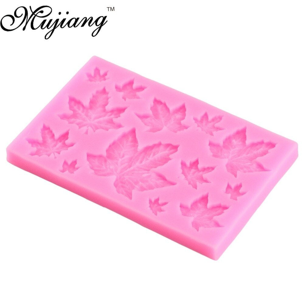Maple Leaf Silicone Cupcake Baking Mold Christmas Fondant Cake Decorating Tools Gumpaste Chocolate Candy Clay Moulds