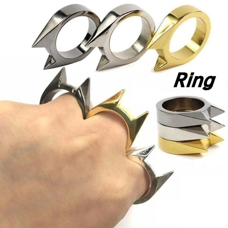 New Creative Metal Skull or Scorpion or Dragon Shaped Outdoor Defence Rings Metal Knuckle Self-defense Equipment tool toy 18 Size Optional