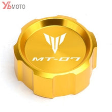 Load image into Gallery viewer, Motorcycle CNC Front & Rear brake Fluid Cylinder Master Reservoir CNC Aluminum Cover Caps For MT-07 MT 07 MT07 FZ07 2014-2020 2019 2018
