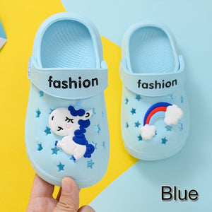 2020 Baby Unicorn Slippers Children's hole shoes Baby sandals Boys girls Cartoon kids Beach slippers Wear-resistant non-slip breathable light soft paw patroll