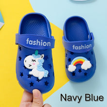 Load image into Gallery viewer, 2020 Baby Unicorn Slippers Children's hole shoes Baby sandals Boys girls Cartoon kids Beach slippers Wear-resistant non-slip breathable light soft paw patroll
