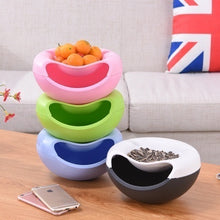 Load image into Gallery viewer, Creative Plastic Double Layer Bowl Storage Box Organizer Garbage Jewelry Phone Plate Holder Dried Fruit Snack Seeds Containers