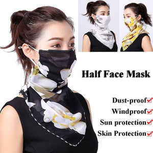 Summer/Spring Fashion Dust-proof Windproof Cycling Accessories Ear Hanger Neck Cover Scarf Half Face Mask Breathable Triangle Bandana Unisex Men Women
