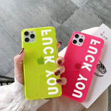 Load image into Gallery viewer, Fashion Letters Fluorescent Neon Color Phone Case For iphone SE 2 2020 11 Pro Max XR X XS Max 7 8 plus Back Cover Transparent Soft Cases