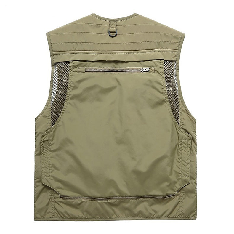 New Men's Outdoor Multi-pocket Fishing Photography Vest Military Style Vest