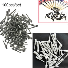 Load image into Gallery viewer, 100Pcs 27mm 2BA Size High Quality Durable Professional Soft Tips Plastic Spots Needle Electronic Dart