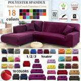 Home Decor 1/2/3 Seaters Elastic Sofa Covers Solid Color Sofa Couch Love Seat Recliner Sofa Cover Soft Couch Slipcovers Modern Soft Couch Slipcover Chair Protector Living Room