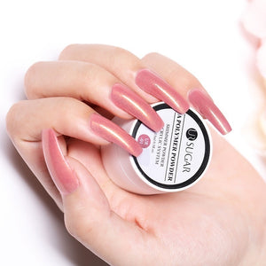 UR SUGAR Acrylic Powder Clear Pink White Carving Crystal Polymer 3D Nail Tips Builder Acrylic Powder for Nails