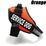Dog Supplies Dog Collar Comfortable Reflective Service Dog Vest / Strap Hook with Ring Service Dog Strap Pet Training Vest with Reflective Patch Suitable for Large and Medium-sized Dogs 12 Colors (size: XXS-XXL)