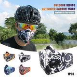 Activated Carbon Dust-proof Cycling Face Mask with Mouth-muffle Dustproof Filter Outdoor Sports Training Mask Face Shield