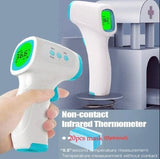 Non-Contact Infrared Human Body Thermometer Plastic Hand-Held Digital Thermometer Temperature Measurement Meter /20pcs masks(option)