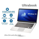 2020 Newest 14.1' Ultra-thin Laptop Intel N3050 4G+64G SSD M.2 Computer WiFi Bluetooth HDMI Movie/Sport/Gamin Notebook For Learning office(PK Mac)
