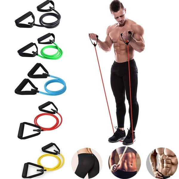 Fitness Resistance Bands Gym Sport Band Workout Elastic Bands Expander Pull Rope Tubes Exercise Equipment for Home Yoga Pilates