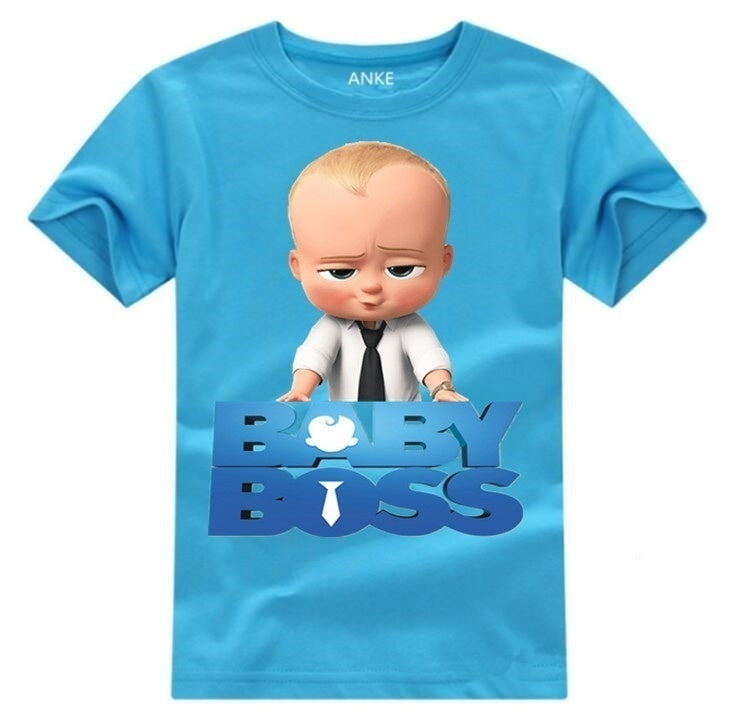Newest  Bossbaby Fashion High Quality Childrens Summer Cotton Boys Short Sleeves T-shirt For Kids Tops Casual Tops For 3-12Y