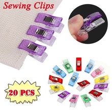 Load image into Gallery viewer, 20pcs Job Foot Case Multicolor Plastic Clips Hemming Sewing Tools Sewing Accessories