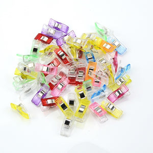 20pcs Job Foot Case Multicolor Plastic Clips Hemming Sewing Tools Sewing Accessories