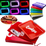 7Colors LED Tobacco Cigarette Rolling Tray LED Rolling Glow Light Up Tray Smoking Holder Trays Tobacco Iron Plate Storage Tray Rechargeable