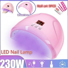 Load image into Gallery viewer, [ 230W ,UV/Sunlight,LCD,USB ] LED Nail Lamp Nail Art Gels Dryer Curing Timing Manicure Machine