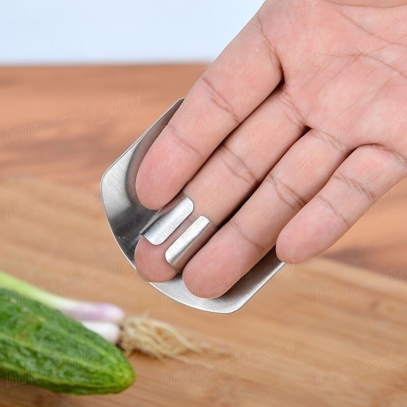 Stainless Steel Kitchen Tool Hand Finger Protector Knife Cut Slice Safe Guard