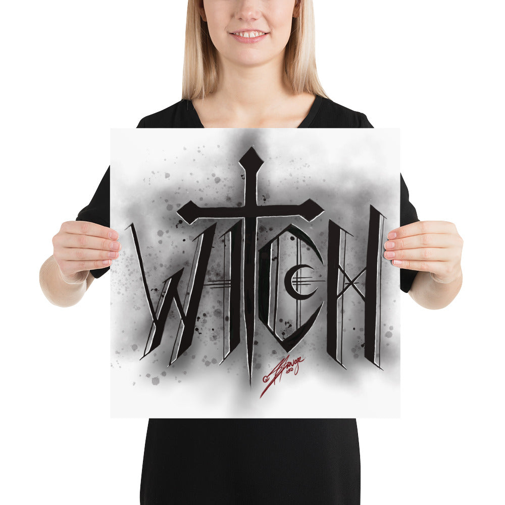 WITCH lettering Poster
