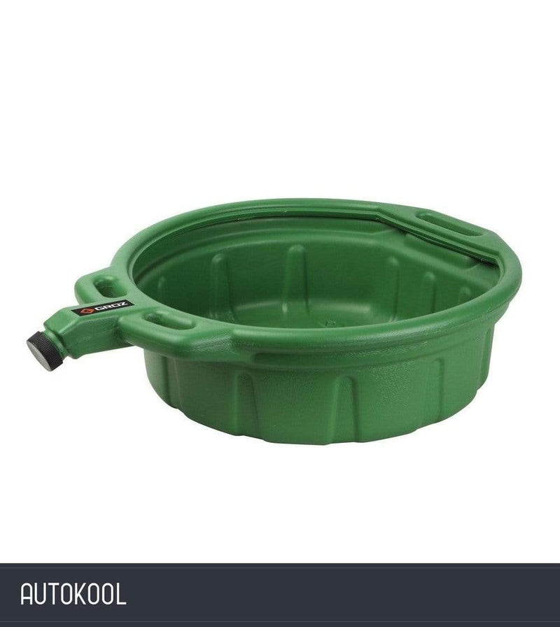 Autokool GROZ 16L Large Oil Drain Draining Fluid Pouring Change Pan Green