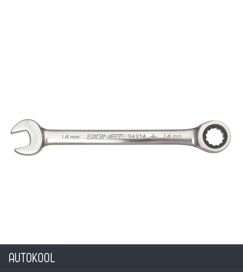 Autokool S34224 Signet Chrome 72 Tooth Ratchet Gear Wrench Standard Spanner Metric 24mm