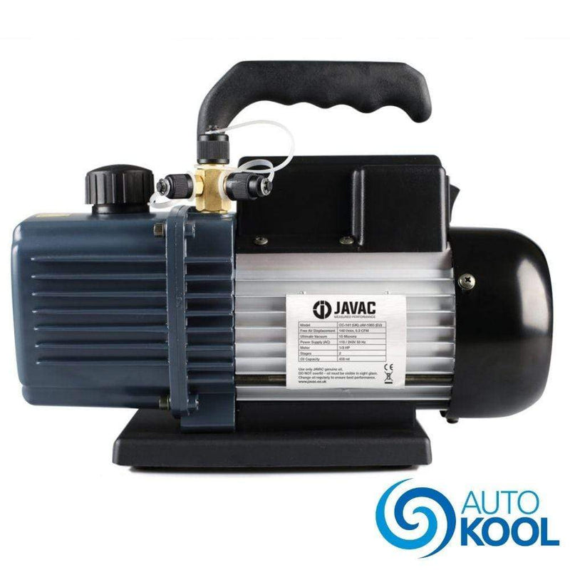 Javac Javac 5 Cfm 2 Two Stage Air Conditioning A/C Refrigeration Vacuum Vac Pump CC141