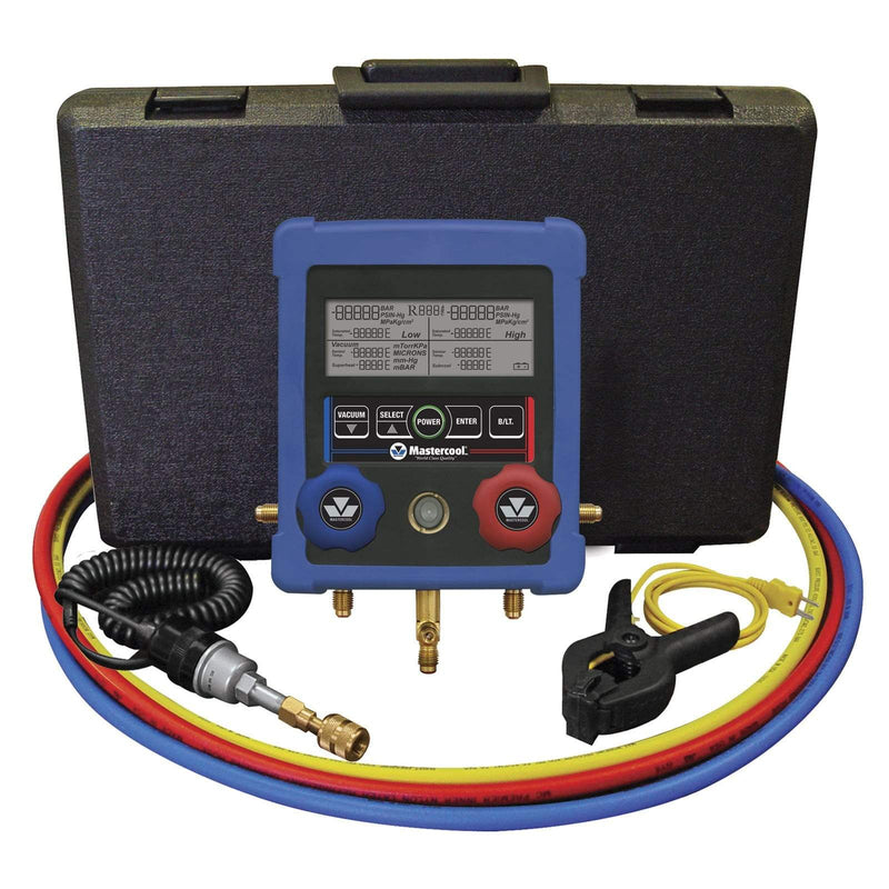 Mastercool 99661-A-Eu 2 Way Digital Refrigeration Manifold Complete Kit