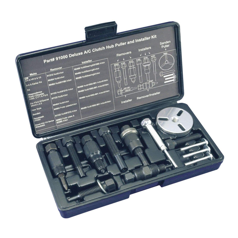 91000-A Mastercool Compressor Deluxe Clutch Hub Puller Installer Kit