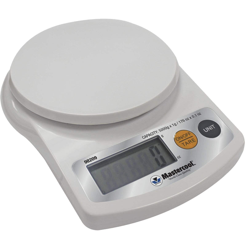 Mastercool Digital Weighing Scales Mastercool Refrigeration 5kg Electronic Charging Weighing Scales 98209