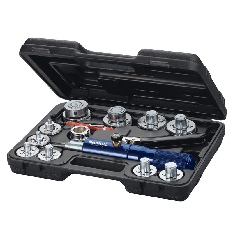 Mastercool Speciality Hydraulic Tools 71650-A Mastercool Refrigeration 10 Head Hydra Swage Imperial Tube Expander Kit
