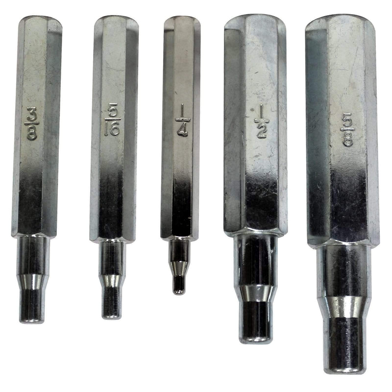 "Mastercool Tubing Tools 70048 Mastercool Refrigeration HVAC Set 5 Swaging Punches 1/4"" 5/16"" 1/2"" 5/8"""