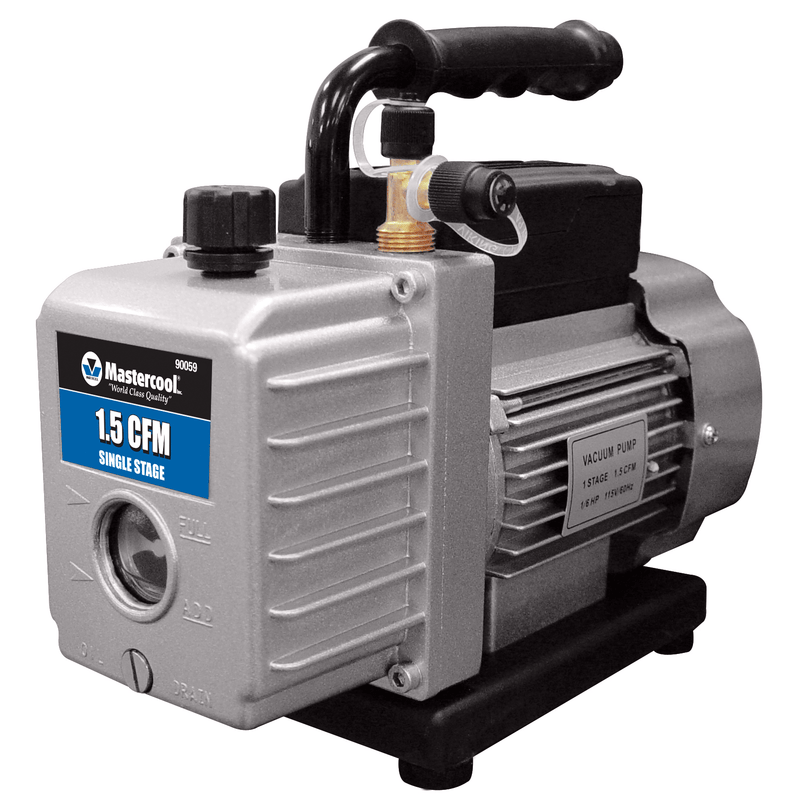 90059-220B Mastercool 1.5 CFM Refrigeration Single Stage Vacuum Pump