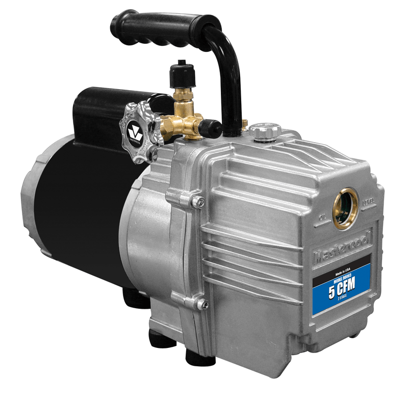 Mastercool 5 CFM Refrigeration Two Stage Rotary Vane Vacuum Pump 90065-220