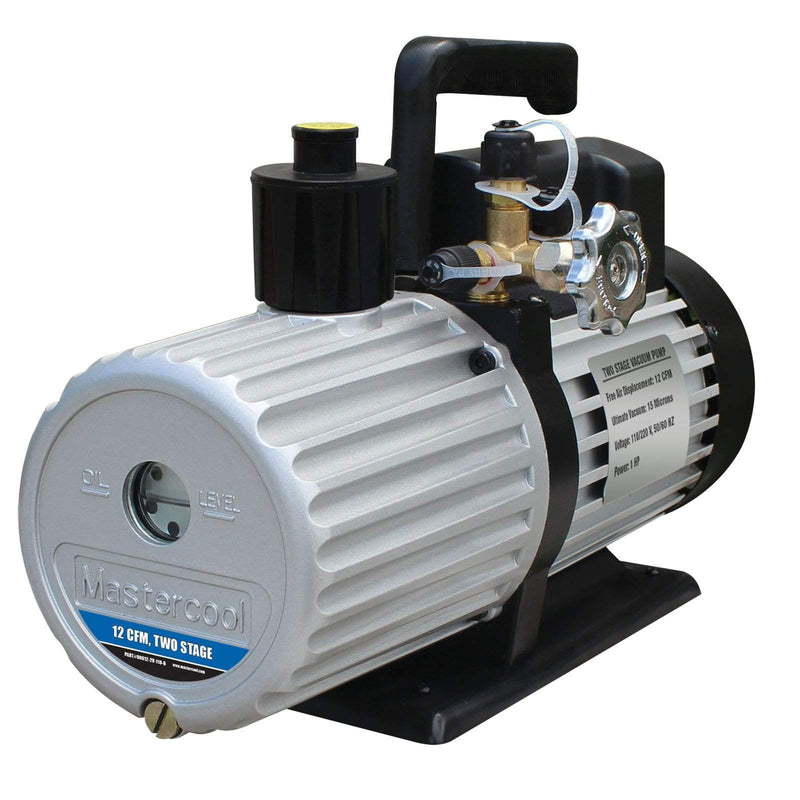 Mastercool Vacuum Pumps Mastercool 90612-2V-220-B HVAC Refrigeration 2 Stage 12CFM Vacuum Pump