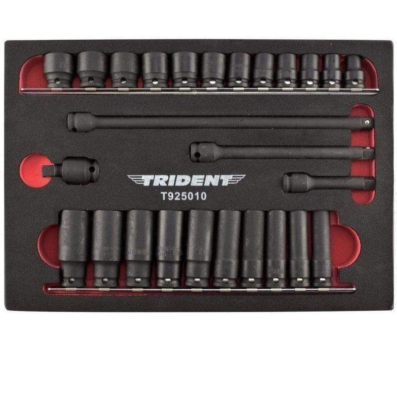 "Trident Impact Sockets Trident T925010 Standard & Deep Impact Socket Set 26 Piece 3/8"" Drive 6 Point"