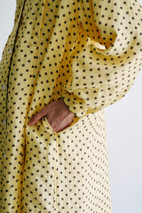 """cheetah"" long maternity pajama"