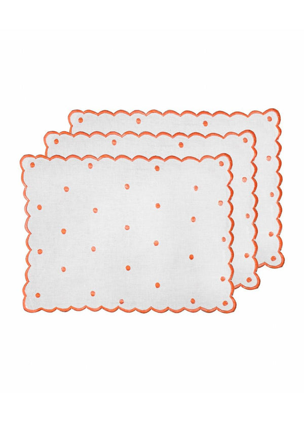 DOT PLACEMATS SET ROUGE