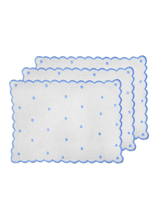 DOT PLACEMATS SET BLUE