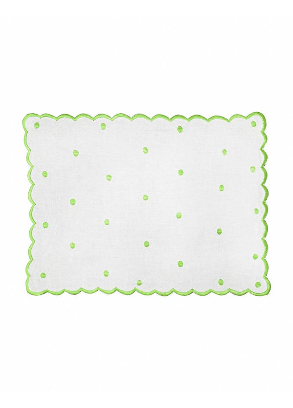 DOT PLACEMATS SET GREEN