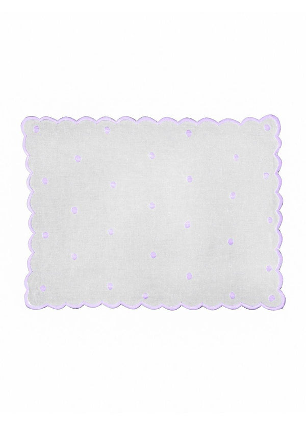 DOT PLACEMATS SET VIOLET