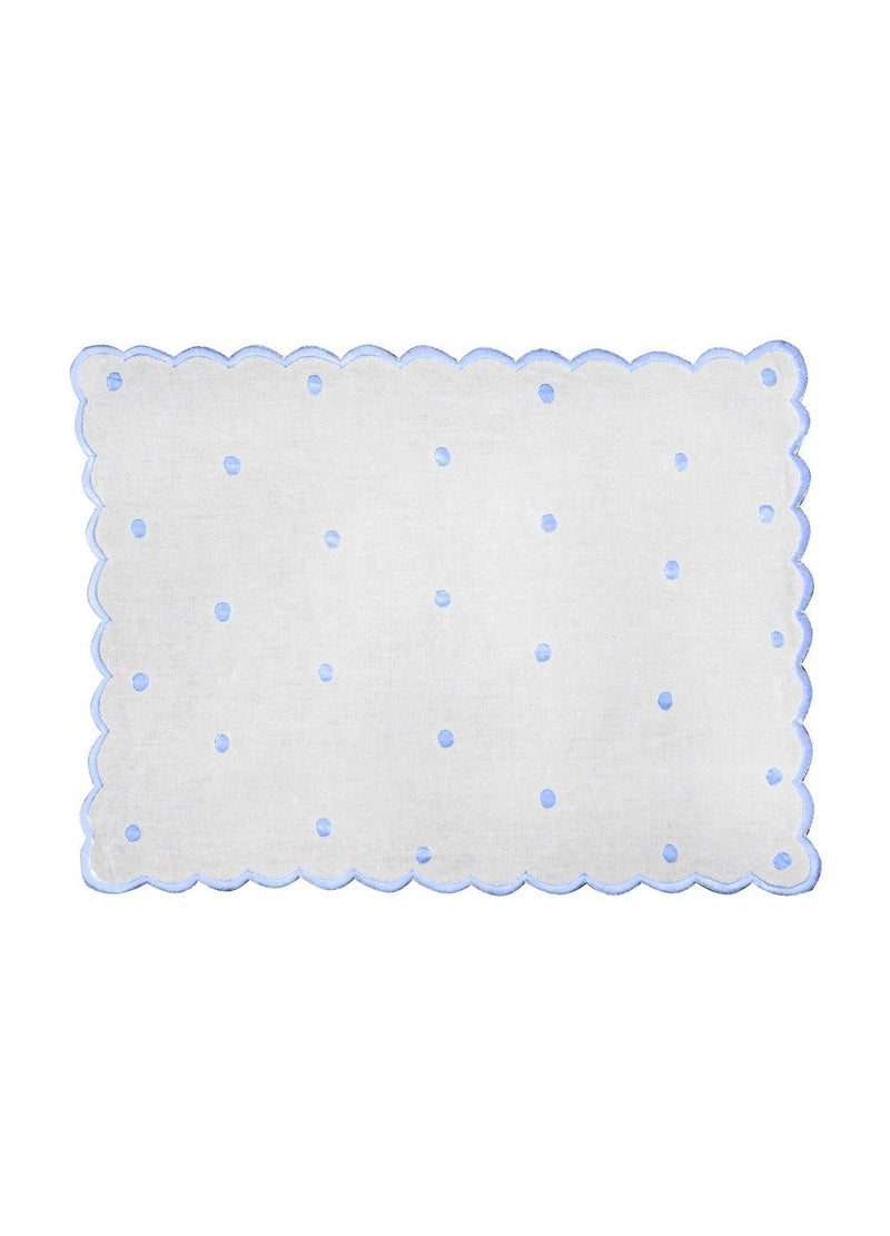 DOT PLACEMATS SET BABY BLUE