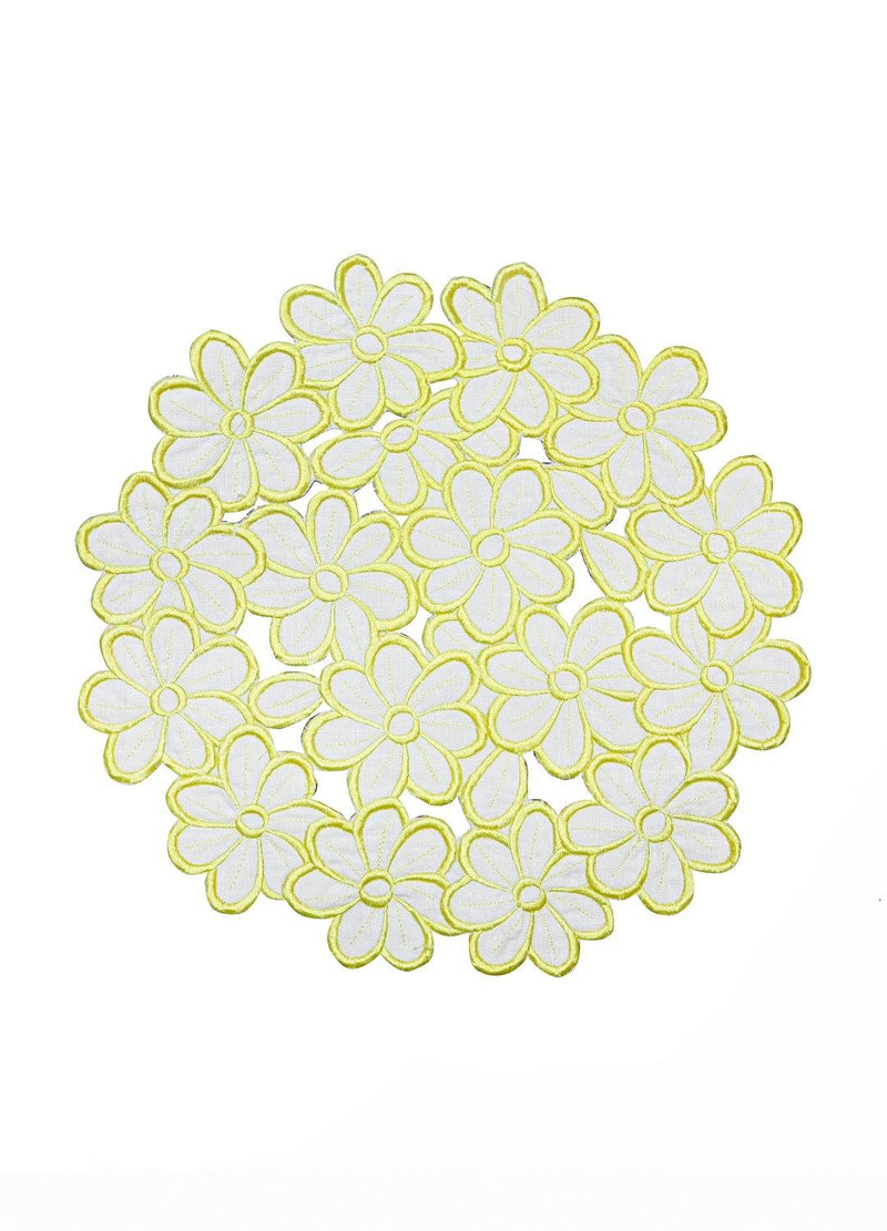 DAISY PLACEMATS SET YELLOW