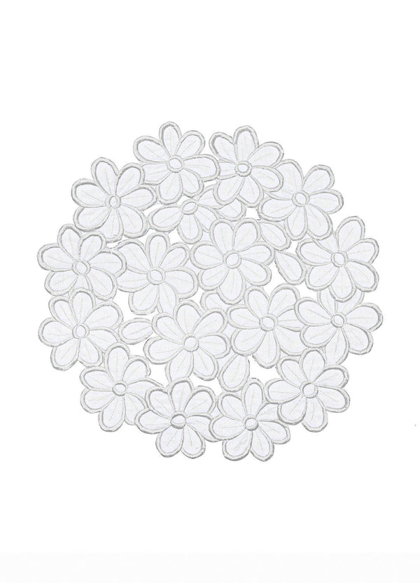 DAISY PLACEMATS SET IVORY
